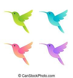 Stylisierte Kolibris