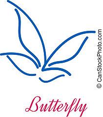 Stylisierte Schmetterlings-Ikone.