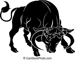 Stylisierte Stier-Illustration