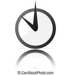 Stylisierte Uhr.