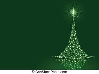 Stylisierte Weihnachtsbaum Hintergrund.