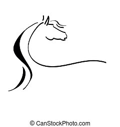 Stylisierte Zeichnung eines Pferdes