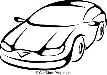 Stylisierter Cartoon-Auto