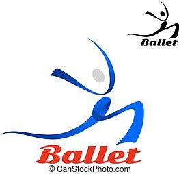Stylisiertes Ballett-Ikone einer Tänzerin.