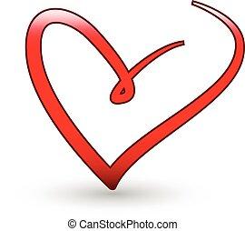 Stylisiertes Liebes-Herz-Logo.