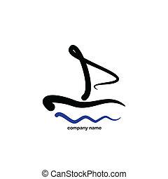 Stylisiertes Segel - Logo