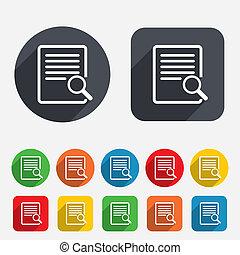 Suchen Sie im Dateizeichen-Icon. Finden Sie Dokumente.