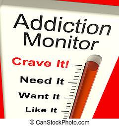 Suchtmonitor zeigt Verlangen und Drogenmissbrauch