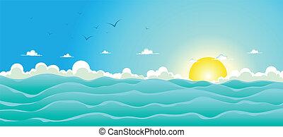 Summer Ocean Hintergrund