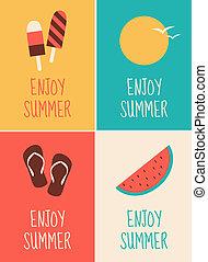 Summer Poster Sammlung.