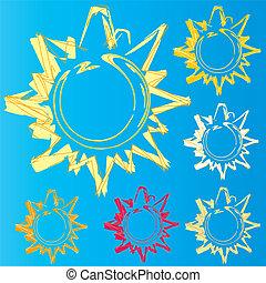 Sun Logo Set Studie.