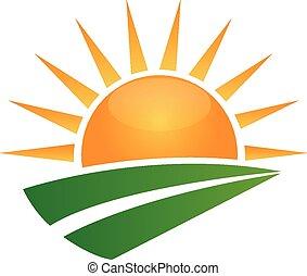 Sun und Green Road Logo.
