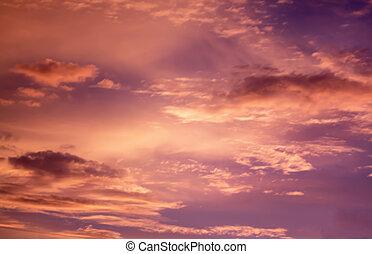Sunset-Orange-Himmel-Hintergrund