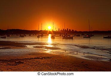 Sunset over Watsons Bay, Australien