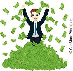 Super reicher erfolgreicher Geschäftsmann.