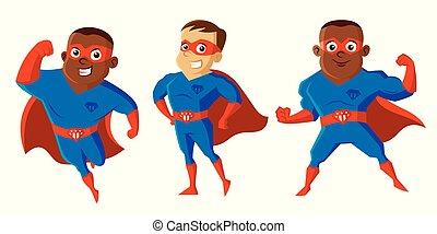 Superhelden-Zeichenfigur.