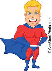Superhero Cartoon posiert