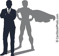Superhero Schatten-Geschäftsmann.