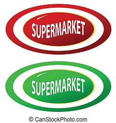 Supermärkte-Ikonen bereit