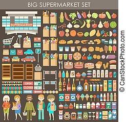 Supermärkte. Vector