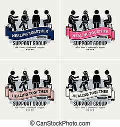 Support Group Center Logo Design.
