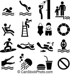 Swimmingpool-Strand-Icon-Symbol