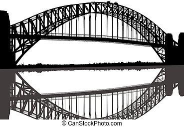 Sydney Hafenbrücke Silhouette