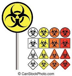 ), (, symbol, biohazard, gefahren, biologisch, ikone