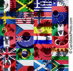 Symbol der internationalen Industrie