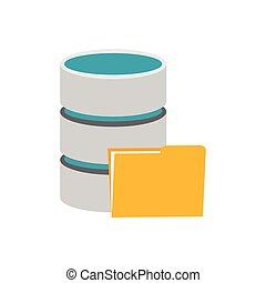Symbol für Datenbankspeicherung.