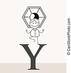 symbol, frau, joga