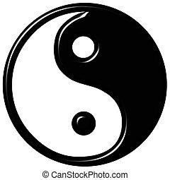 symbol, tao, 3d