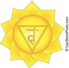 symbol, terz, chakra, sonnenkollektoren, plexus, manipura.