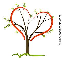 symbol, vektor, liebe, natur