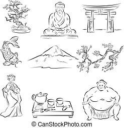 Symbole der japanischen Kultur