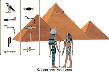 Symbole des Egypten