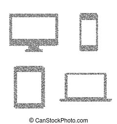 Symbole elektronischer Geräte