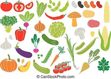 Symbole für Gemüse (Vektorsammlung) eingestellt.