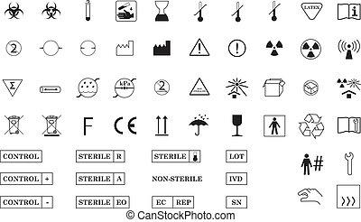symbole, international, medizin