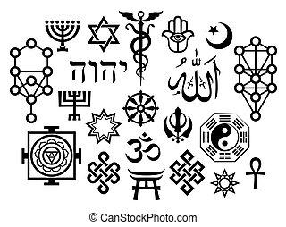 symbole, orientalische , sakral, religiöses