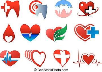 symbole, spende, zahntechnik, blut, kardiologie