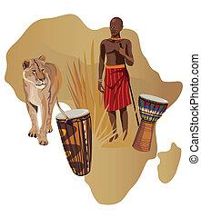 Symbole von Afrika