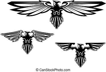 symbole, wappen, adler, t�towierung