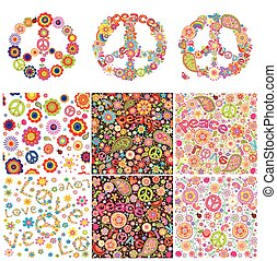 symbolisch, design, hippie
