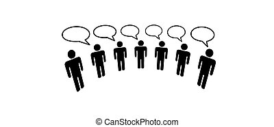 Symbolische Menschen im sozialen Netzwerk der Medien verbinden Blog