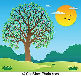 Szene mit Blattbaum 1