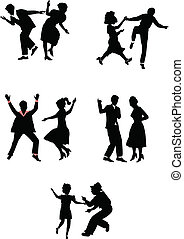 Tänzer in Silhouette