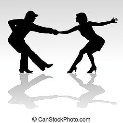 Tänzer Silhouette.