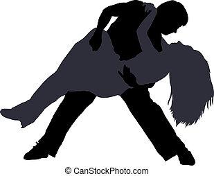 Tänzerinnen schlagen