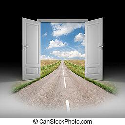 Tür zu einer neuen Realität.